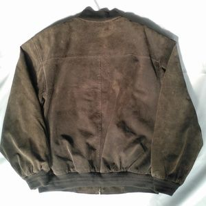c106d2f330c0 Aberdeen Jackets   Coats - Aberdeen Brown Suede Leather Varsity Bomber  Jacket